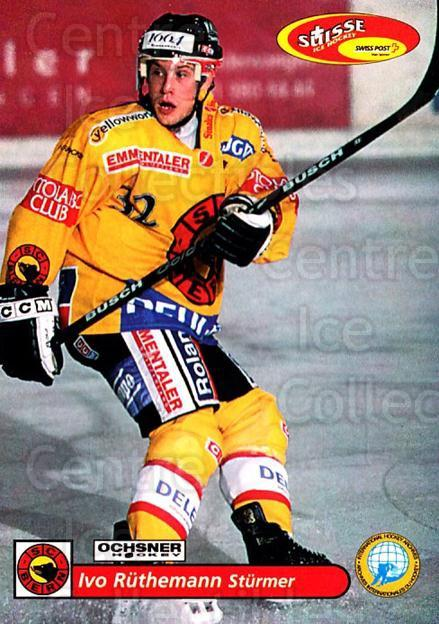2001-02 Swiss Ice Hockey Cards #96 Ivo Ruthemann<br/>2 In Stock - $2.00 each - <a href=https://centericecollectibles.foxycart.com/cart?name=2001-02%20Swiss%20Ice%20Hockey%20Cards%20%2396%20Ivo%20Ruthemann...&quantity_max=2&price=$2.00&code=220641 class=foxycart> Buy it now! </a>
