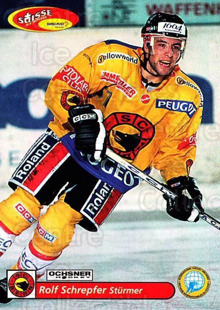 2001-02 Swiss Ice Hockey Cards #97 Rolf Schrepfer<br/>2 In Stock - $2.00 each - <a href=https://centericecollectibles.foxycart.com/cart?name=2001-02%20Swiss%20Ice%20Hockey%20Cards%20%2397%20Rolf%20Schrepfer...&quantity_max=2&price=$2.00&code=220642 class=foxycart> Buy it now! </a>