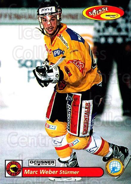 2001-02 Swiss Ice Hockey Cards #100 Marc Weber<br/>2 In Stock - $2.00 each - <a href=https://centericecollectibles.foxycart.com/cart?name=2001-02%20Swiss%20Ice%20Hockey%20Cards%20%23100%20Marc%20Weber...&quantity_max=2&price=$2.00&code=220645 class=foxycart> Buy it now! </a>