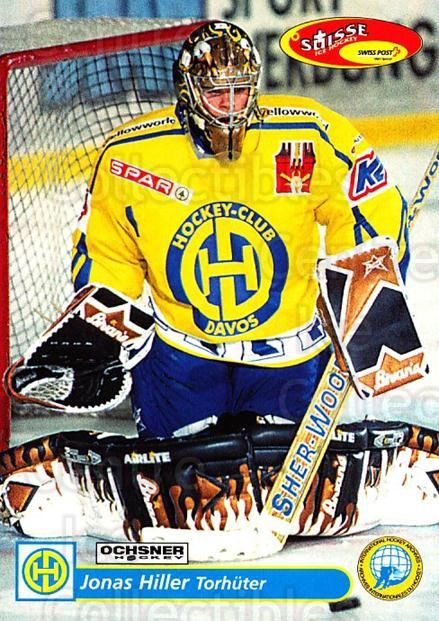 2001-02 Swiss Ice Hockey Cards #103 Jonas Hiller<br/>1 In Stock - $5.00 each - <a href=https://centericecollectibles.foxycart.com/cart?name=2001-02%20Swiss%20Ice%20Hockey%20Cards%20%23103%20Jonas%20Hiller...&quantity_max=1&price=$5.00&code=220648 class=foxycart> Buy it now! </a>
