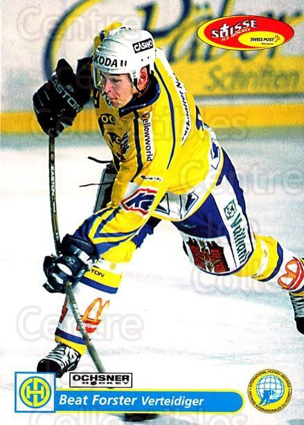 2001-02 Swiss Ice Hockey Cards #106 Beat Forster<br/>2 In Stock - $2.00 each - <a href=https://centericecollectibles.foxycart.com/cart?name=2001-02%20Swiss%20Ice%20Hockey%20Cards%20%23106%20Beat%20Forster...&quantity_max=2&price=$2.00&code=220651 class=foxycart> Buy it now! </a>