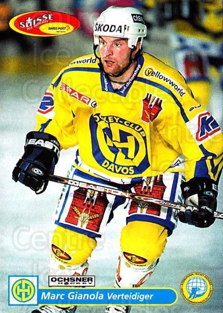 2001-02 Swiss Ice Hockey Cards #107 Marc Gianola<br/>2 In Stock - $2.00 each - <a href=https://centericecollectibles.foxycart.com/cart?name=2001-02%20Swiss%20Ice%20Hockey%20Cards%20%23107%20Marc%20Gianola...&quantity_max=2&price=$2.00&code=220652 class=foxycart> Buy it now! </a>