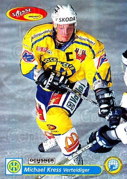 2001-02 Swiss Ice Hockey Cards #109 Michael Kress<br/>2 In Stock - $2.00 each - <a href=https://centericecollectibles.foxycart.com/cart?name=2001-02%20Swiss%20Ice%20Hockey%20Cards%20%23109%20Michael%20Kress...&quantity_max=2&price=$2.00&code=220654 class=foxycart> Buy it now! </a>