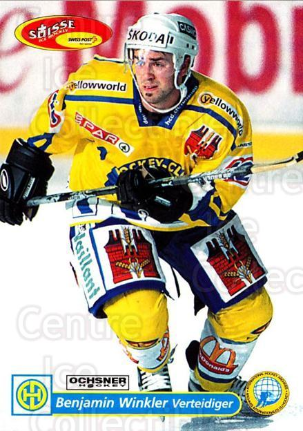 2001-02 Swiss Ice Hockey Cards #112 Benjamin Winkler<br/>2 In Stock - $2.00 each - <a href=https://centericecollectibles.foxycart.com/cart?name=2001-02%20Swiss%20Ice%20Hockey%20Cards%20%23112%20Benjamin%20Winkle...&quantity_max=2&price=$2.00&code=220657 class=foxycart> Buy it now! </a>