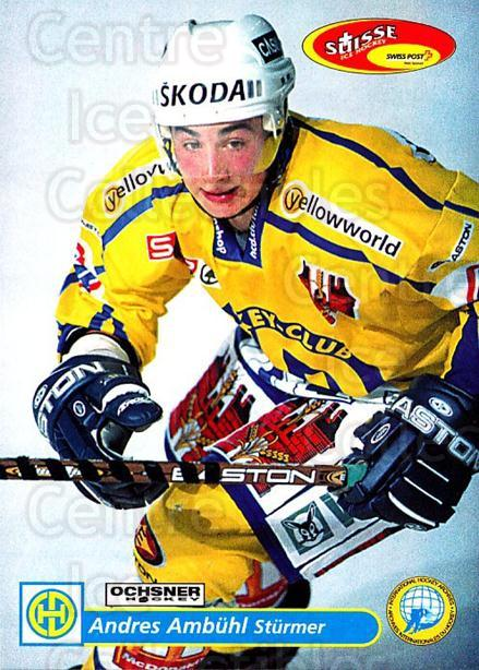 2001-02 Swiss Ice Hockey Cards #113 Andres Ambuhl<br/>2 In Stock - $2.00 each - <a href=https://centericecollectibles.foxycart.com/cart?name=2001-02%20Swiss%20Ice%20Hockey%20Cards%20%23113%20Andres%20Ambuhl...&quantity_max=2&price=$2.00&code=220658 class=foxycart> Buy it now! </a>