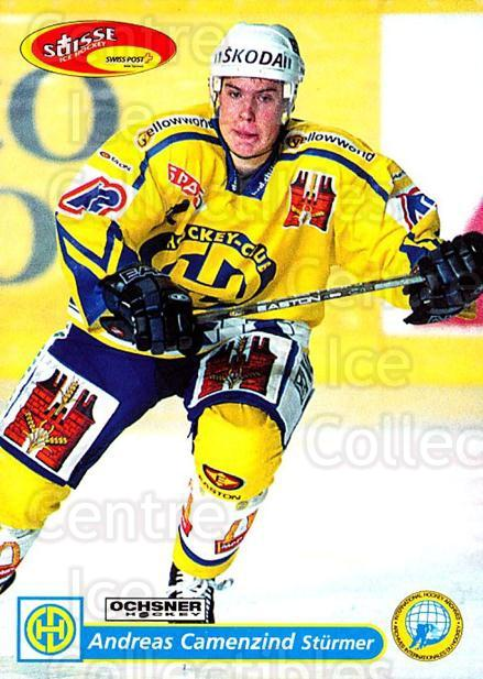 2001-02 Swiss Ice Hockey Cards #115 Andreas Camenzind<br/>2 In Stock - $2.00 each - <a href=https://centericecollectibles.foxycart.com/cart?name=2001-02%20Swiss%20Ice%20Hockey%20Cards%20%23115%20Andreas%20Camenzi...&quantity_max=2&price=$2.00&code=220660 class=foxycart> Buy it now! </a>