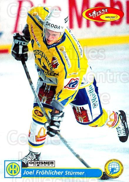 2001-02 Swiss Ice Hockey Cards #118 Joel Frohlicher<br/>2 In Stock - $2.00 each - <a href=https://centericecollectibles.foxycart.com/cart?name=2001-02%20Swiss%20Ice%20Hockey%20Cards%20%23118%20Joel%20Frohlicher...&quantity_max=2&price=$2.00&code=220663 class=foxycart> Buy it now! </a>