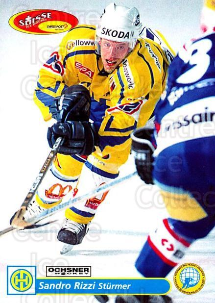 2001-02 Swiss Ice Hockey Cards #124 Sandro Rizzi<br/>2 In Stock - $2.00 each - <a href=https://centericecollectibles.foxycart.com/cart?name=2001-02%20Swiss%20Ice%20Hockey%20Cards%20%23124%20Sandro%20Rizzi...&quantity_max=2&price=$2.00&code=220669 class=foxycart> Buy it now! </a>