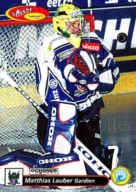 2001-02 Swiss Ice Hockey Cards #127 Matthias Lauber<br/>2 In Stock - $2.00 each - <a href=https://centericecollectibles.foxycart.com/cart?name=2001-02%20Swiss%20Ice%20Hockey%20Cards%20%23127%20Matthias%20Lauber...&quantity_max=2&price=$2.00&code=220672 class=foxycart> Buy it now! </a>