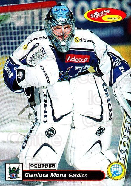 2001-02 Swiss Ice Hockey Cards #128 Gianluca Mona<br/>2 In Stock - $2.00 each - <a href=https://centericecollectibles.foxycart.com/cart?name=2001-02%20Swiss%20Ice%20Hockey%20Cards%20%23128%20Gianluca%20Mona...&quantity_max=2&price=$2.00&code=220673 class=foxycart> Buy it now! </a>