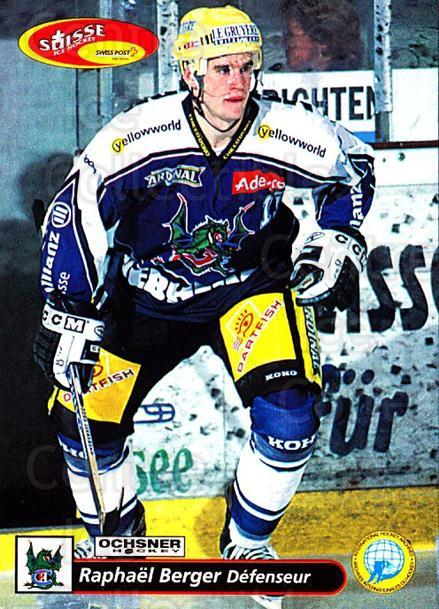 2001-02 Swiss Ice Hockey Cards #129 Raphael Berger<br/>2 In Stock - $2.00 each - <a href=https://centericecollectibles.foxycart.com/cart?name=2001-02%20Swiss%20Ice%20Hockey%20Cards%20%23129%20Raphael%20Berger...&quantity_max=2&price=$2.00&code=220674 class=foxycart> Buy it now! </a>