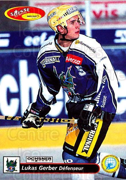 2001-02 Swiss Ice Hockey Cards #132 Lukas Gerber<br/>2 In Stock - $2.00 each - <a href=https://centericecollectibles.foxycart.com/cart?name=2001-02%20Swiss%20Ice%20Hockey%20Cards%20%23132%20Lukas%20Gerber...&quantity_max=2&price=$2.00&code=220677 class=foxycart> Buy it now! </a>