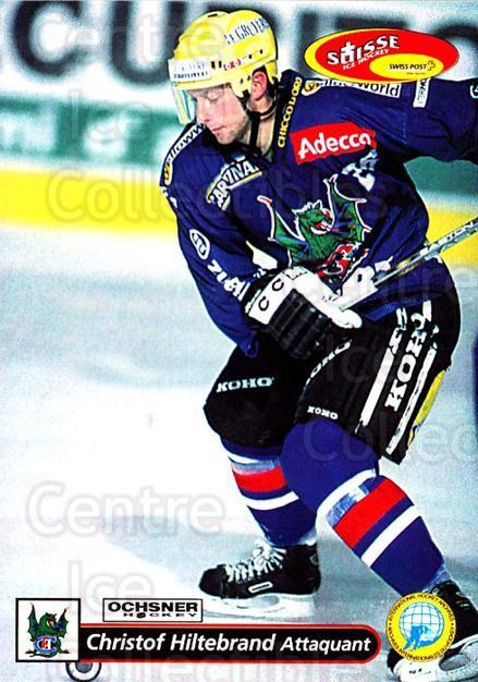 2001-02 Swiss Ice Hockey Cards #138 Christof Hiltebrand<br/>2 In Stock - $2.00 each - <a href=https://centericecollectibles.foxycart.com/cart?name=2001-02%20Swiss%20Ice%20Hockey%20Cards%20%23138%20Christof%20Hilteb...&quantity_max=2&price=$2.00&code=220683 class=foxycart> Buy it now! </a>