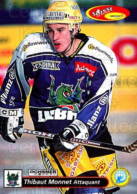 2001-02 Swiss Ice Hockey Cards #143 Thibaut Monnet<br/>2 In Stock - $2.00 each - <a href=https://centericecollectibles.foxycart.com/cart?name=2001-02%20Swiss%20Ice%20Hockey%20Cards%20%23143%20Thibaut%20Monnet...&quantity_max=2&price=$2.00&code=220688 class=foxycart> Buy it now! </a>