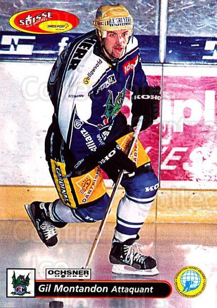 2001-02 Swiss Ice Hockey Cards #144 Gil Montandon<br/>2 In Stock - $2.00 each - <a href=https://centericecollectibles.foxycart.com/cart?name=2001-02%20Swiss%20Ice%20Hockey%20Cards%20%23144%20Gil%20Montandon...&quantity_max=2&price=$2.00&code=220689 class=foxycart> Buy it now! </a>