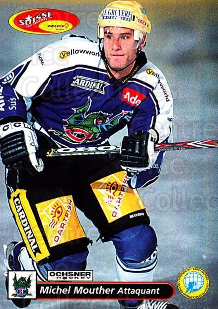 2001-02 Swiss Ice Hockey Cards #145 Michel Mouther<br/>2 In Stock - $2.00 each - <a href=https://centericecollectibles.foxycart.com/cart?name=2001-02%20Swiss%20Ice%20Hockey%20Cards%20%23145%20Michel%20Mouther...&quantity_max=2&price=$2.00&code=220690 class=foxycart> Buy it now! </a>