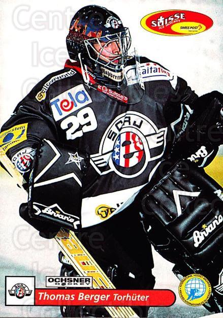 2001-02 Swiss Ice Hockey Cards #152 Thomas Berger<br/>2 In Stock - $2.00 each - <a href=https://centericecollectibles.foxycart.com/cart?name=2001-02%20Swiss%20Ice%20Hockey%20Cards%20%23152%20Thomas%20Berger...&quantity_max=2&price=$2.00&code=220697 class=foxycart> Buy it now! </a>