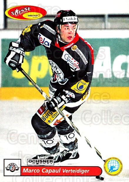 2001-02 Swiss Ice Hockey Cards #154 Marco Capaul<br/>2 In Stock - $2.00 each - <a href=https://centericecollectibles.foxycart.com/cart?name=2001-02%20Swiss%20Ice%20Hockey%20Cards%20%23154%20Marco%20Capaul...&quantity_max=2&price=$2.00&code=220699 class=foxycart> Buy it now! </a>