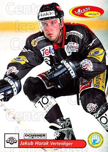 2001-02 Swiss Ice Hockey Cards #156 Jakub Horak<br/>2 In Stock - $2.00 each - <a href=https://centericecollectibles.foxycart.com/cart?name=2001-02%20Swiss%20Ice%20Hockey%20Cards%20%23156%20Jakub%20Horak...&quantity_max=2&price=$2.00&code=220701 class=foxycart> Buy it now! </a>