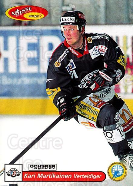 2001-02 Swiss Ice Hockey Cards #157 Kari Martikainen<br/>2 In Stock - $2.00 each - <a href=https://centericecollectibles.foxycart.com/cart?name=2001-02%20Swiss%20Ice%20Hockey%20Cards%20%23157%20Kari%20Martikaine...&quantity_max=2&price=$2.00&code=220702 class=foxycart> Buy it now! </a>