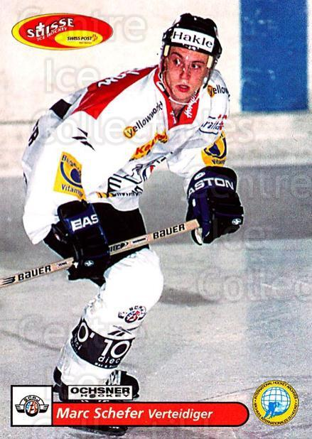 2001-02 Swiss Ice Hockey Cards #159 Marc Schefer<br/>2 In Stock - $2.00 each - <a href=https://centericecollectibles.foxycart.com/cart?name=2001-02%20Swiss%20Ice%20Hockey%20Cards%20%23159%20Marc%20Schefer...&quantity_max=2&price=$2.00&code=220704 class=foxycart> Buy it now! </a>