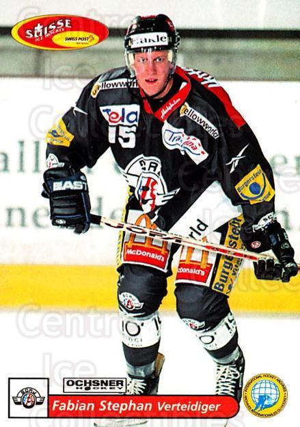 2001-02 Swiss Ice Hockey Cards #160 Fabian Stephan<br/>2 In Stock - $2.00 each - <a href=https://centericecollectibles.foxycart.com/cart?name=2001-02%20Swiss%20Ice%20Hockey%20Cards%20%23160%20Fabian%20Stephan...&quantity_max=2&price=$2.00&code=220705 class=foxycart> Buy it now! </a>
