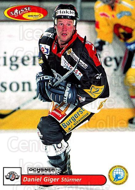 2001-02 Swiss Ice Hockey Cards #163 Daniel Giger<br/>4 In Stock - $2.00 each - <a href=https://centericecollectibles.foxycart.com/cart?name=2001-02%20Swiss%20Ice%20Hockey%20Cards%20%23163%20Daniel%20Giger...&quantity_max=4&price=$2.00&code=220708 class=foxycart> Buy it now! </a>