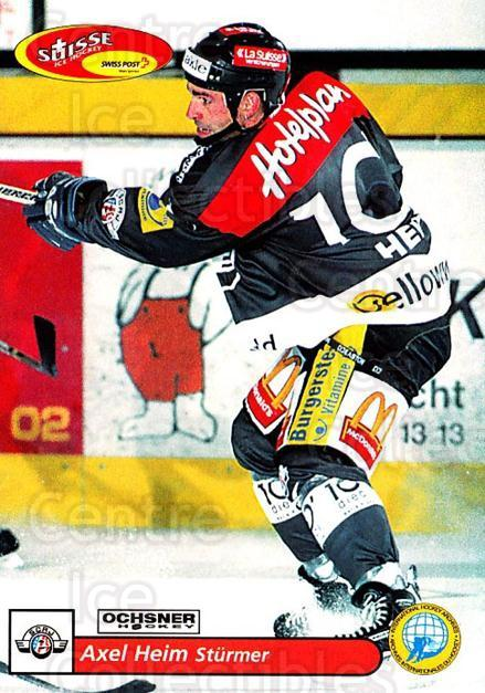 2001-02 Swiss Ice Hockey Cards #164 Axel Heim<br/>2 In Stock - $2.00 each - <a href=https://centericecollectibles.foxycart.com/cart?name=2001-02%20Swiss%20Ice%20Hockey%20Cards%20%23164%20Axel%20Heim...&quantity_max=2&price=$2.00&code=220709 class=foxycart> Buy it now! </a>
