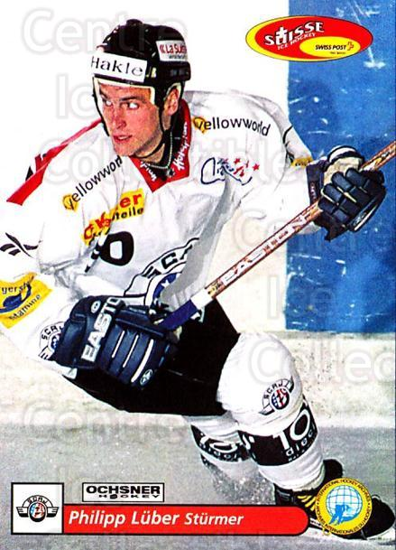 2001-02 Swiss Ice Hockey Cards #165 Philipp Luber<br/>2 In Stock - $2.00 each - <a href=https://centericecollectibles.foxycart.com/cart?name=2001-02%20Swiss%20Ice%20Hockey%20Cards%20%23165%20Philipp%20Luber...&quantity_max=2&price=$2.00&code=220710 class=foxycart> Buy it now! </a>