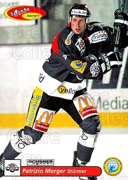 2001-02 Swiss Ice Hockey Cards #169 Patrizio Morger<br/>2 In Stock - $2.00 each - <a href=https://centericecollectibles.foxycart.com/cart?name=2001-02%20Swiss%20Ice%20Hockey%20Cards%20%23169%20Patrizio%20Morger...&quantity_max=2&price=$2.00&code=220714 class=foxycart> Buy it now! </a>