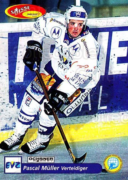 2001-02 Swiss Ice Hockey Cards #181 Pascal Muller<br/>2 In Stock - $2.00 each - <a href=https://centericecollectibles.foxycart.com/cart?name=2001-02%20Swiss%20Ice%20Hockey%20Cards%20%23181%20Pascal%20Muller...&quantity_max=2&price=$2.00&code=220726 class=foxycart> Buy it now! </a>