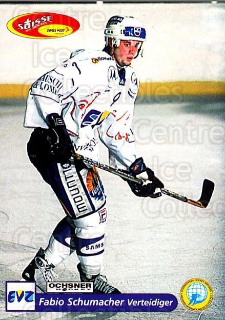 2001-02 Swiss Ice Hockey Cards #184 Fabio Schumacher<br/>2 In Stock - $2.00 each - <a href=https://centericecollectibles.foxycart.com/cart?name=2001-02%20Swiss%20Ice%20Hockey%20Cards%20%23184%20Fabio%20Schumache...&quantity_max=2&price=$2.00&code=220729 class=foxycart> Buy it now! </a>