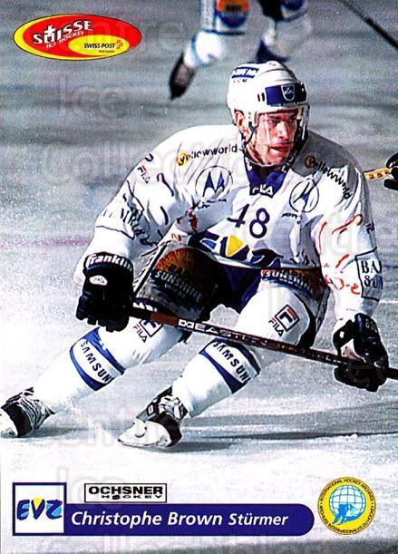 2001-02 Swiss Ice Hockey Cards #185 Christophe Brown<br/>2 In Stock - $2.00 each - <a href=https://centericecollectibles.foxycart.com/cart?name=2001-02%20Swiss%20Ice%20Hockey%20Cards%20%23185%20Christophe%20Brow...&quantity_max=2&price=$2.00&code=220730 class=foxycart> Buy it now! </a>