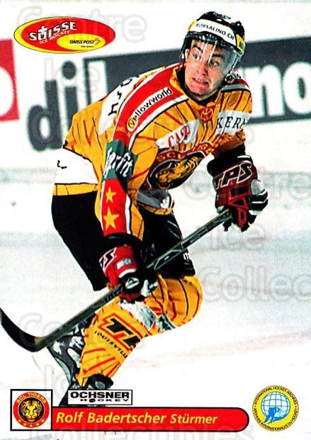 2001-02 Swiss Ice Hockey Cards #208 Rolf Badertscher<br/>3 In Stock - $2.00 each - <a href=https://centericecollectibles.foxycart.com/cart?name=2001-02%20Swiss%20Ice%20Hockey%20Cards%20%23208%20Rolf%20Badertsche...&quantity_max=3&price=$2.00&code=220753 class=foxycart> Buy it now! </a>