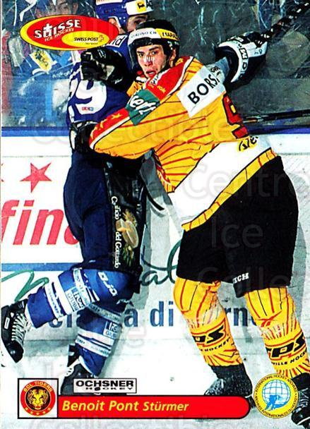 2001-02 Swiss Ice Hockey Cards #216 Benoit Pont<br/>3 In Stock - $2.00 each - <a href=https://centericecollectibles.foxycart.com/cart?name=2001-02%20Swiss%20Ice%20Hockey%20Cards%20%23216%20Benoit%20Pont...&quantity_max=3&price=$2.00&code=220761 class=foxycart> Buy it now! </a>