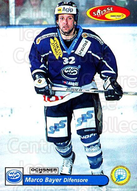 2001-02 Swiss Ice Hockey Cards #223 Marco Bayer<br/>2 In Stock - $2.00 each - <a href=https://centericecollectibles.foxycart.com/cart?name=2001-02%20Swiss%20Ice%20Hockey%20Cards%20%23223%20Marco%20Bayer...&quantity_max=2&price=$2.00&code=220768 class=foxycart> Buy it now! </a>