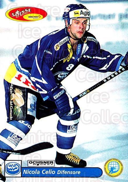 2001-02 Swiss Ice Hockey Cards #224 Nicola Celio<br/>2 In Stock - $2.00 each - <a href=https://centericecollectibles.foxycart.com/cart?name=2001-02%20Swiss%20Ice%20Hockey%20Cards%20%23224%20Nicola%20Celio...&quantity_max=2&price=$2.00&code=220769 class=foxycart> Buy it now! </a>