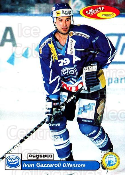 2001-02 Swiss Ice Hockey Cards #225 Ivan Gazzaroli<br/>2 In Stock - $2.00 each - <a href=https://centericecollectibles.foxycart.com/cart?name=2001-02%20Swiss%20Ice%20Hockey%20Cards%20%23225%20Ivan%20Gazzaroli...&quantity_max=2&price=$2.00&code=220770 class=foxycart> Buy it now! </a>