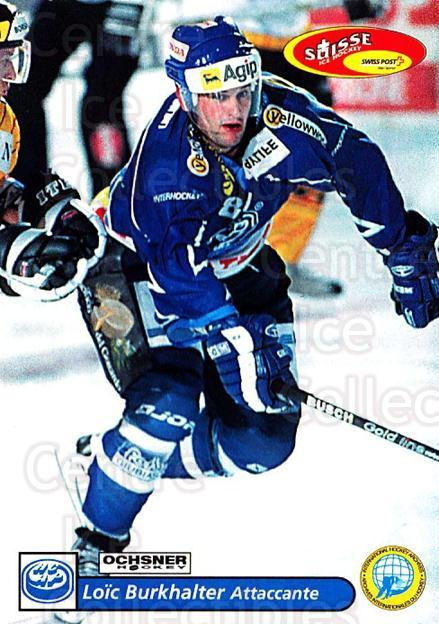 2001-02 Swiss Ice Hockey Cards #230 Loic Burkhalter<br/>2 In Stock - $2.00 each - <a href=https://centericecollectibles.foxycart.com/cart?name=2001-02%20Swiss%20Ice%20Hockey%20Cards%20%23230%20Loic%20Burkhalter...&quantity_max=2&price=$2.00&code=220775 class=foxycart> Buy it now! </a>