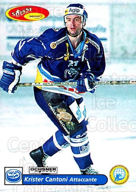 2001-02 Swiss Ice Hockey Cards #232 Krister Cantoni<br/>1 In Stock - $2.00 each - <a href=https://centericecollectibles.foxycart.com/cart?name=2001-02%20Swiss%20Ice%20Hockey%20Cards%20%23232%20Krister%20Cantoni...&quantity_max=1&price=$2.00&code=220777 class=foxycart> Buy it now! </a>