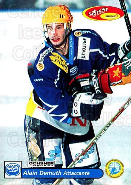 2001-02 Swiss Ice Hockey Cards #234 Alain Demuth<br/>2 In Stock - $2.00 each - <a href=https://centericecollectibles.foxycart.com/cart?name=2001-02%20Swiss%20Ice%20Hockey%20Cards%20%23234%20Alain%20Demuth...&quantity_max=2&price=$2.00&code=220779 class=foxycart> Buy it now! </a>