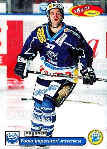 2001-02 Swiss Ice Hockey Cards #236 Paolo Imperatori<br/>3 In Stock - $2.00 each - <a href=https://centericecollectibles.foxycart.com/cart?name=2001-02%20Swiss%20Ice%20Hockey%20Cards%20%23236%20Paolo%20Imperator...&quantity_max=3&price=$2.00&code=220781 class=foxycart> Buy it now! </a>