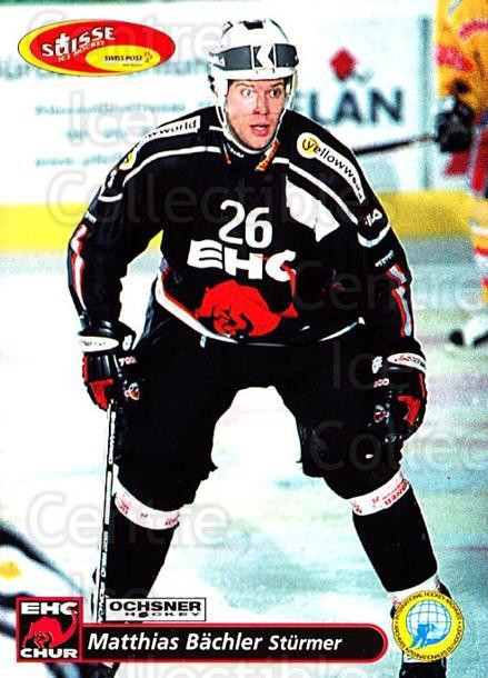 2001-02 Swiss Ice Hockey Cards #255 Matthias Bachler<br/>2 In Stock - $2.00 each - <a href=https://centericecollectibles.foxycart.com/cart?name=2001-02%20Swiss%20Ice%20Hockey%20Cards%20%23255%20Matthias%20Bachle...&quantity_max=2&price=$2.00&code=220800 class=foxycart> Buy it now! </a>