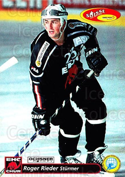 2001-02 Swiss Ice Hockey Cards #260 Roger Rieder<br/>3 In Stock - $2.00 each - <a href=https://centericecollectibles.foxycart.com/cart?name=2001-02%20Swiss%20Ice%20Hockey%20Cards%20%23260%20Roger%20Rieder...&quantity_max=3&price=$2.00&code=220805 class=foxycart> Buy it now! </a>