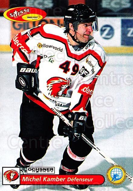 2001-02 Swiss Ice Hockey Cards #272 Michel Kamber<br/>2 In Stock - $2.00 each - <a href=https://centericecollectibles.foxycart.com/cart?name=2001-02%20Swiss%20Ice%20Hockey%20Cards%20%23272%20Michel%20Kamber...&quantity_max=2&price=$2.00&code=220817 class=foxycart> Buy it now! </a>