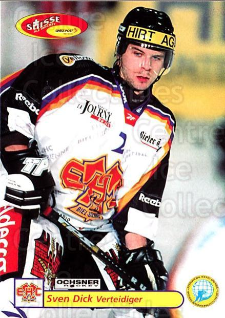 2001-02 Swiss Ice Hockey Cards #316 Sven Dick<br/>2 In Stock - $2.00 each - <a href=https://centericecollectibles.foxycart.com/cart?name=2001-02%20Swiss%20Ice%20Hockey%20Cards%20%23316%20Sven%20Dick...&quantity_max=2&price=$2.00&code=220861 class=foxycart> Buy it now! </a>
