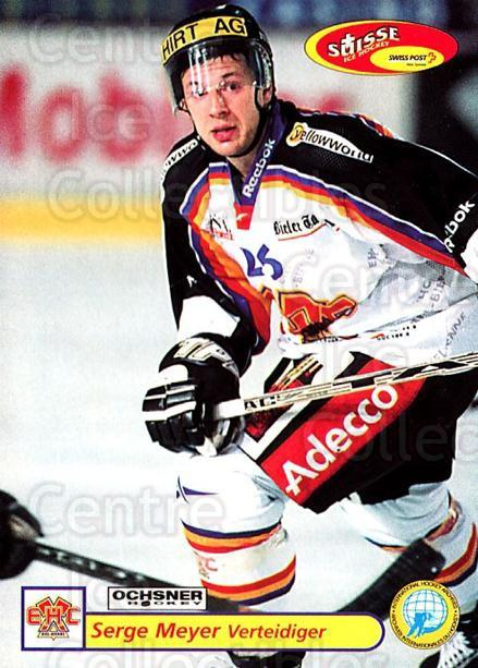 2001-02 Swiss Ice Hockey Cards #317 Serge Meyer<br/>3 In Stock - $2.00 each - <a href=https://centericecollectibles.foxycart.com/cart?name=2001-02%20Swiss%20Ice%20Hockey%20Cards%20%23317%20Serge%20Meyer...&quantity_max=3&price=$2.00&code=220862 class=foxycart> Buy it now! </a>
