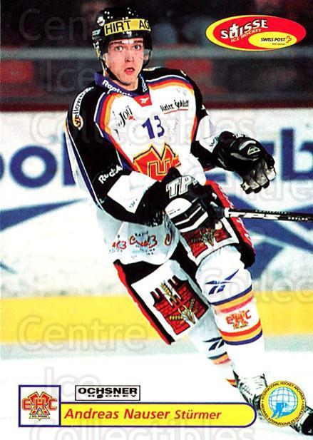 2001-02 Swiss Ice Hockey Cards #326 Andreas Nauser<br/>2 In Stock - $2.00 each - <a href=https://centericecollectibles.foxycart.com/cart?name=2001-02%20Swiss%20Ice%20Hockey%20Cards%20%23326%20Andreas%20Nauser...&quantity_max=2&price=$2.00&code=220871 class=foxycart> Buy it now! </a>