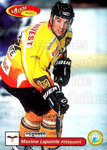 2001-02 Swiss Ice Hockey Cards #348 Maxime Lapointe<br/>2 In Stock - $2.00 each - <a href=https://centericecollectibles.foxycart.com/cart?name=2001-02%20Swiss%20Ice%20Hockey%20Cards%20%23348%20Maxime%20Lapointe...&quantity_max=2&price=$2.00&code=220893 class=foxycart> Buy it now! </a>