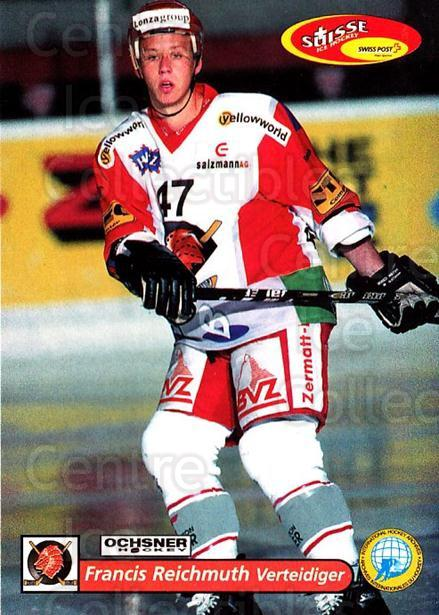 2001-02 Swiss Ice Hockey Cards #361 Francis Reichmuth<br/>2 In Stock - $2.00 each - <a href=https://centericecollectibles.foxycart.com/cart?name=2001-02%20Swiss%20Ice%20Hockey%20Cards%20%23361%20Francis%20Reichmu...&quantity_max=2&price=$2.00&code=220906 class=foxycart> Buy it now! </a>